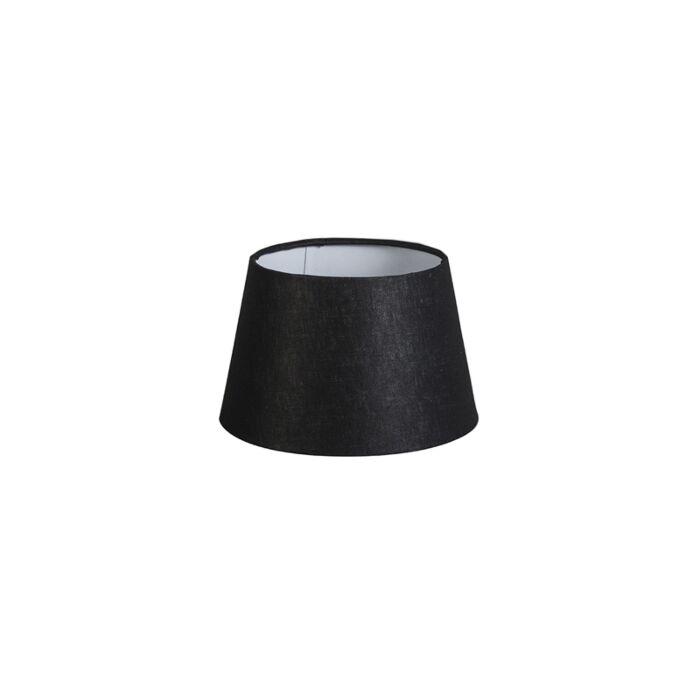 Kap-20cm-rond-DS-E27-linnen-zwart
