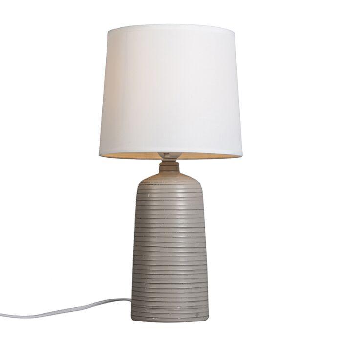 Tafellamp-Ceramic-licht-taupe