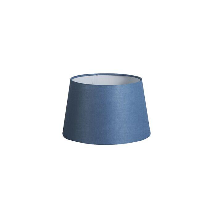 Kap-25cm-rond-DS-E27-linnen-blauw