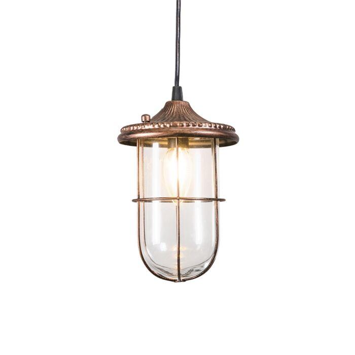 Vintage-ronde-hanglamp-roest-met-glas---Porto