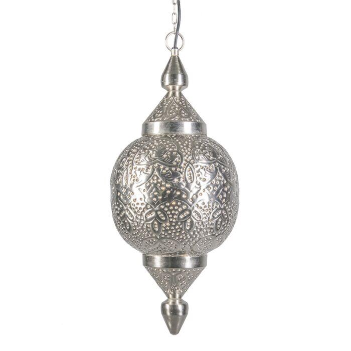 Hanglamp-Marrakesh-zilver-oosters