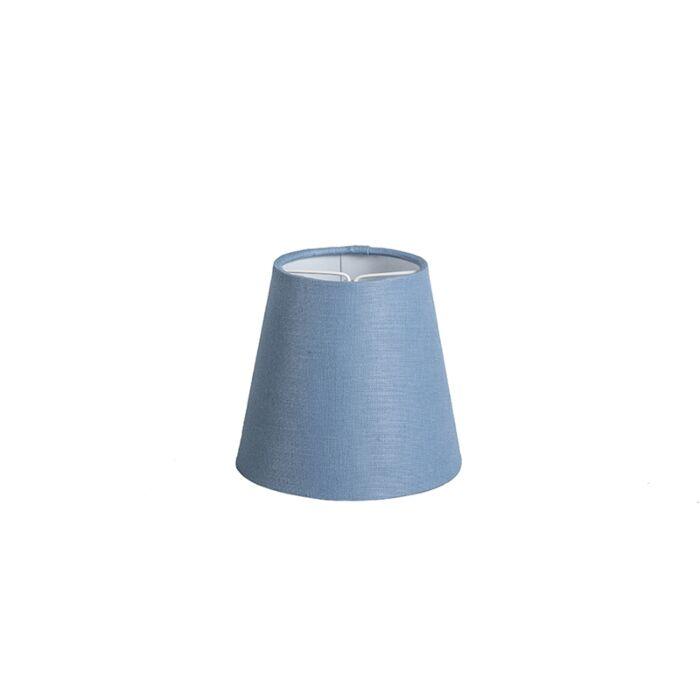 Klemkap-12cm-rond-SC-linnen-blauw