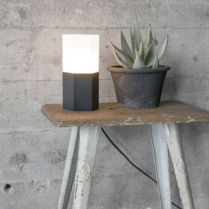 Tafellamp-Hexagon-zwart