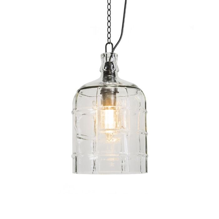 Landelijke-hanglamp-helder-glas---Vaso