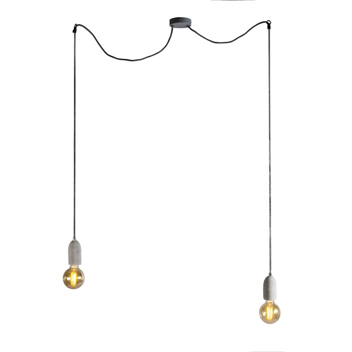 Industriële-hanglamp-beton-2-lichts---Cava-2