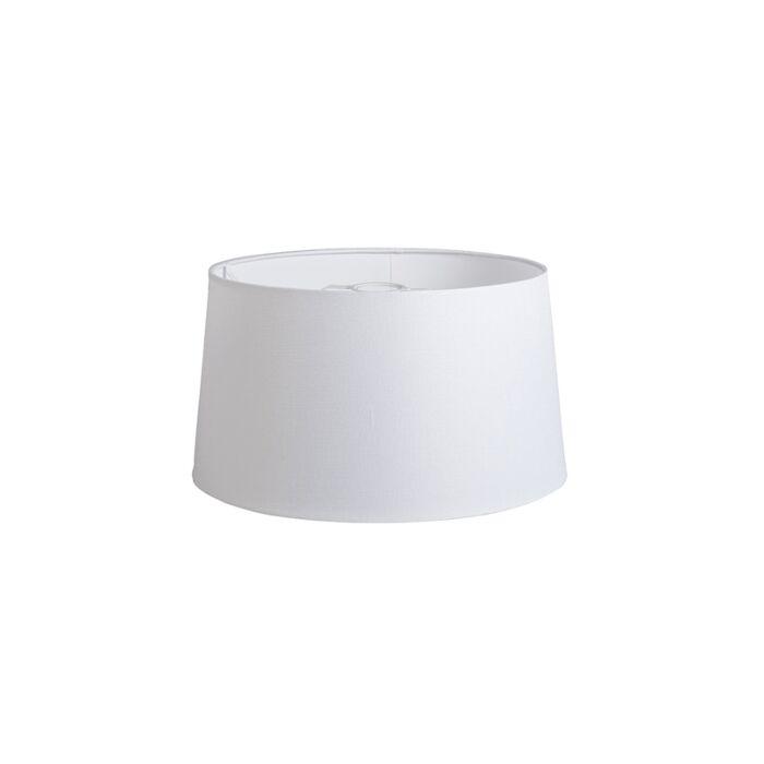 Kap-40cm-rond-DS-E27-linnen-wit
