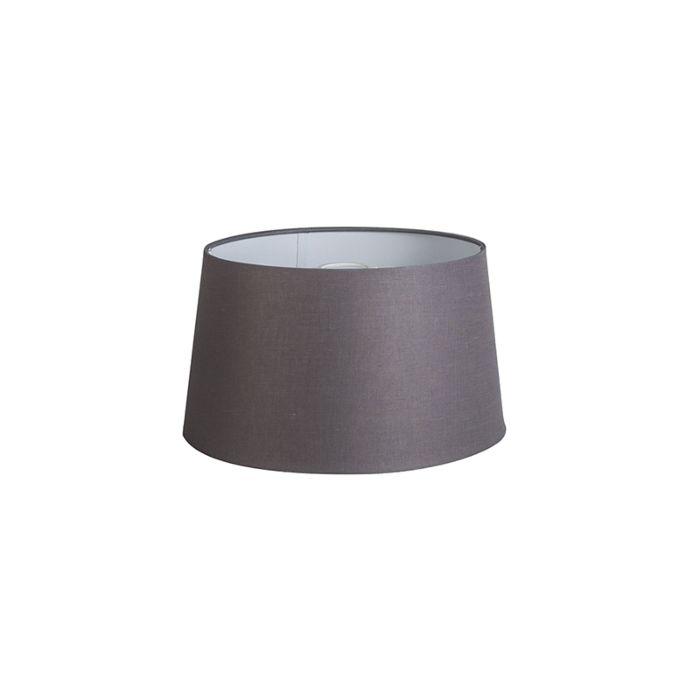 Kap-35cm-rond-DS-E27-linnen-bruingrijs