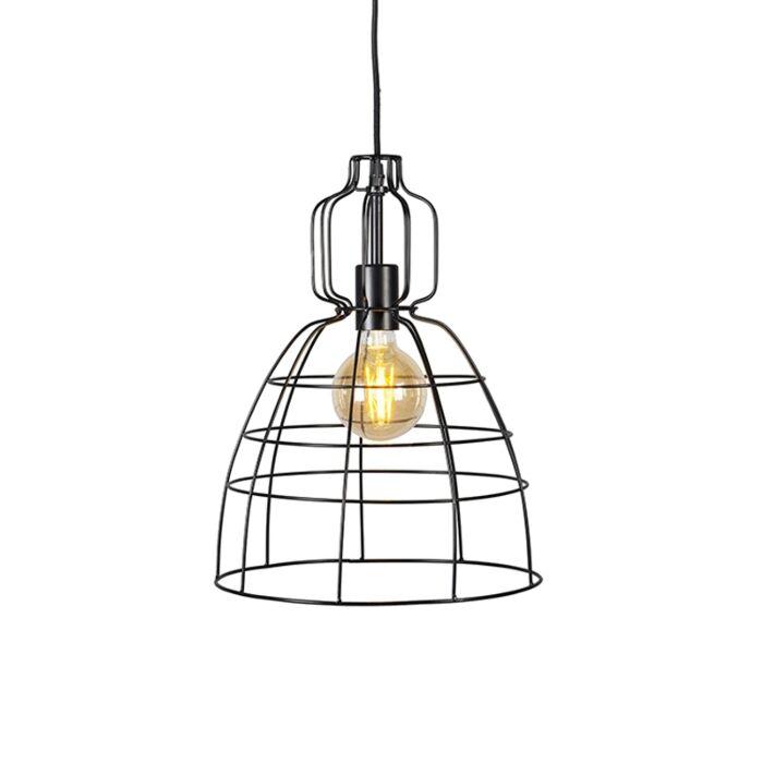Industriele-hanglamp-zwart---Core