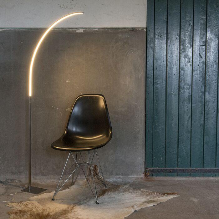 Moderne-vloerlamp-staal-incl.-LED-en-3-staps-dimmer---Stylish