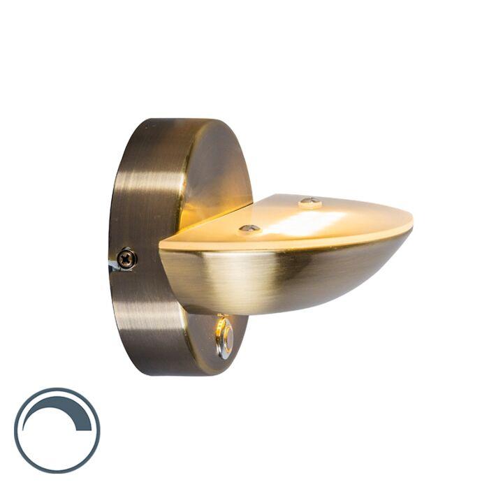 Moderne-wandlamp-brons-incl.-LED---Plato