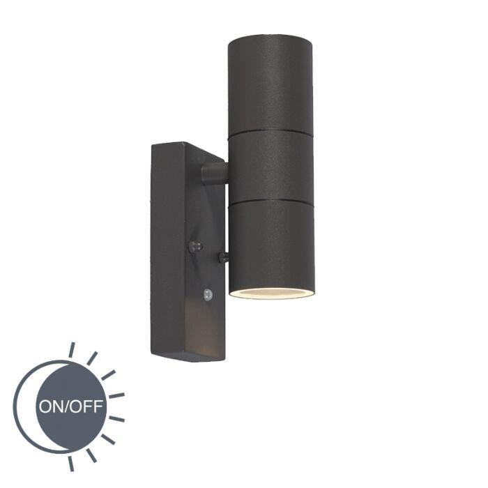 Buitenlamp-Duo-LUX-donkergrijs
