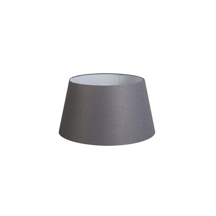 Kap-32cm-rond-DS-E27-linnen-donkergrijs