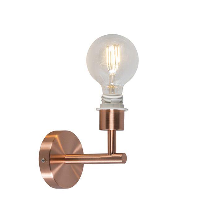 Wandlamp-Combi-1-koper-zonder-kap