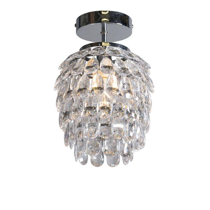 Art-deco-plafondlamp-staal-19-cm-dimbaar---Bling