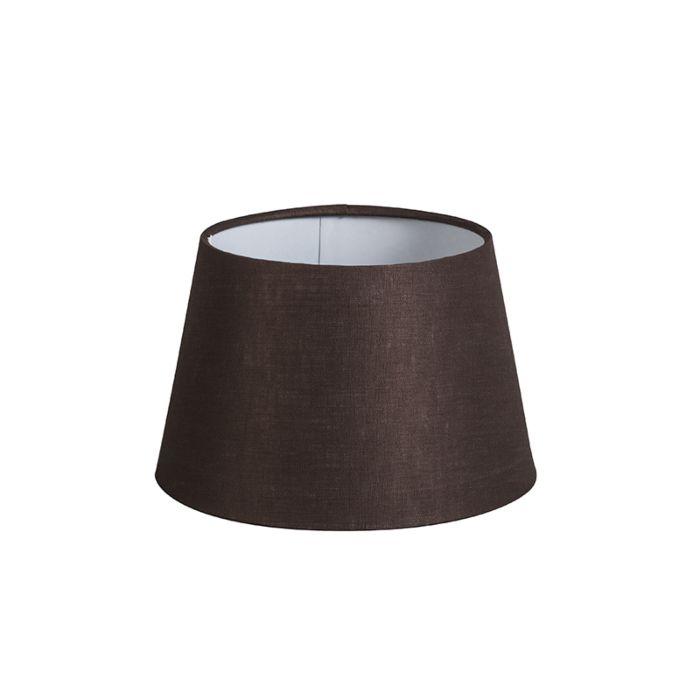 Kap-20cm-rond-DS-E27-linnen-bruin