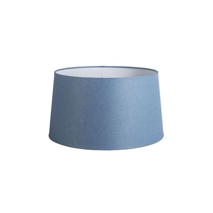 Kap-45cm-rond-DS-E27-linnen-blauw