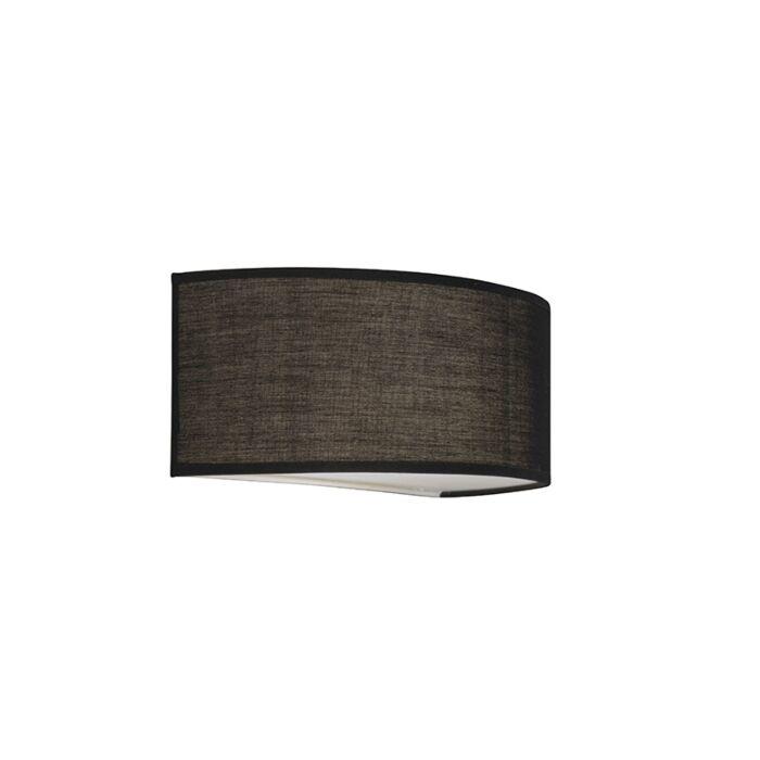 Wandlamp-Drum-Basic-halfrond-zwart