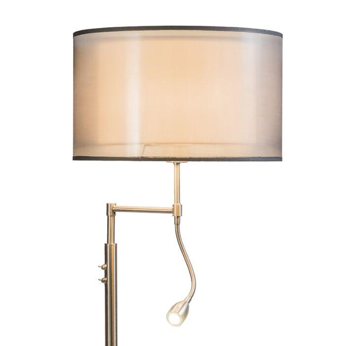 Vloerlamp-Iseo-met-kap-en-LED-leeslamp