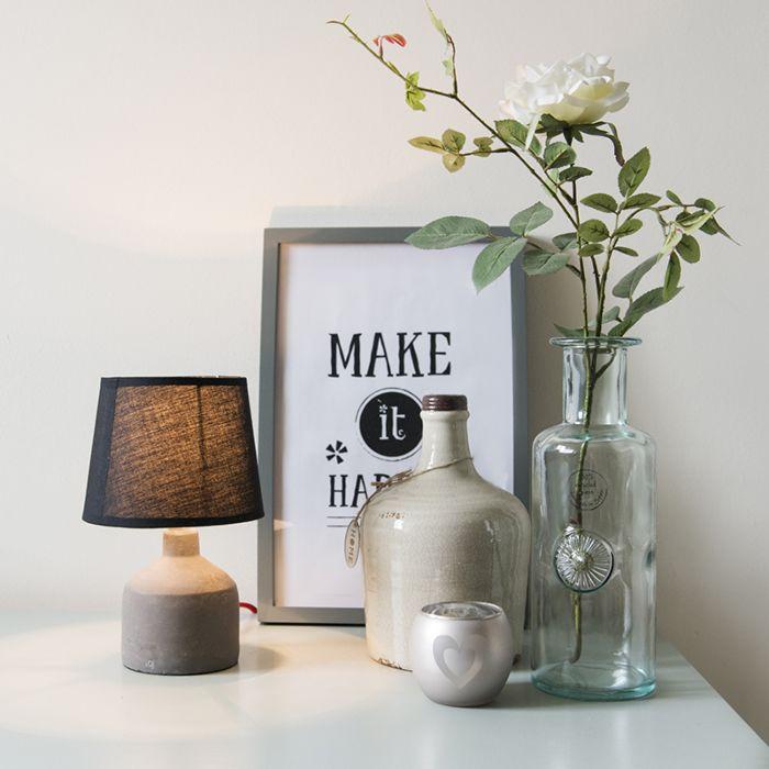 Tafellamp-Cemento-zwart