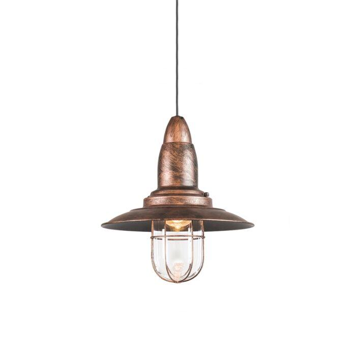Vintage-hanglamp-roest-met-glas---Pescador