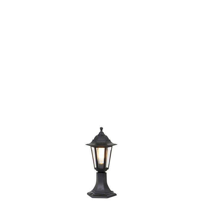 Klassieke-buiten-vloerlamp-zwart-42,2-cm-IP44---New-Haven