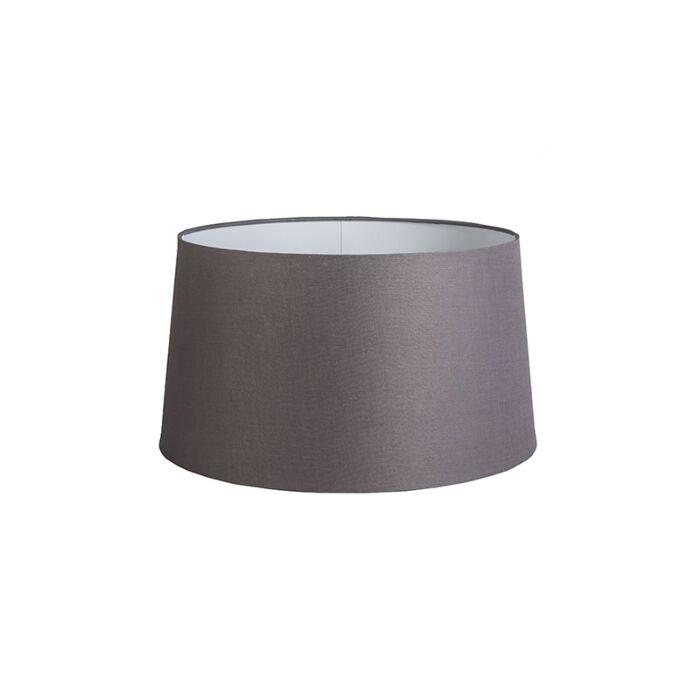 Kap-45cm-rond-DS-E27-linnen-bruingrijs