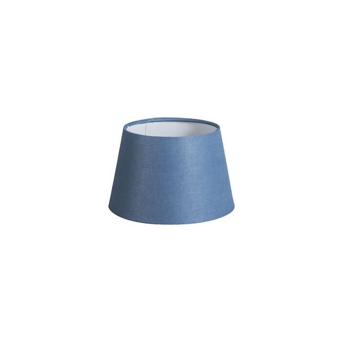 Kap-20cm-rond-DS-E27-linnen-blauw