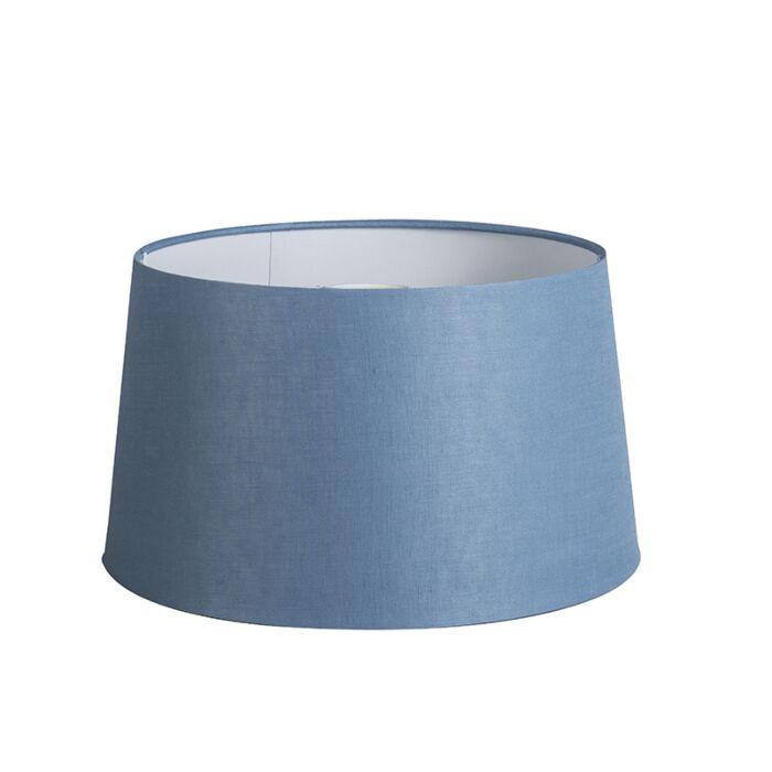 Kap-35cm-rond-DS-E27-linnen-blauw