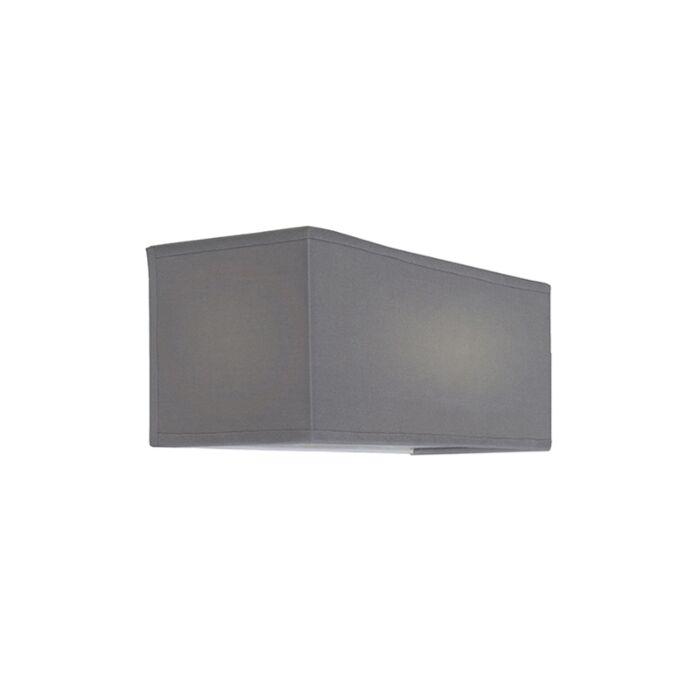 Wandlamp-Drum-Basic-rechthoek-grijs