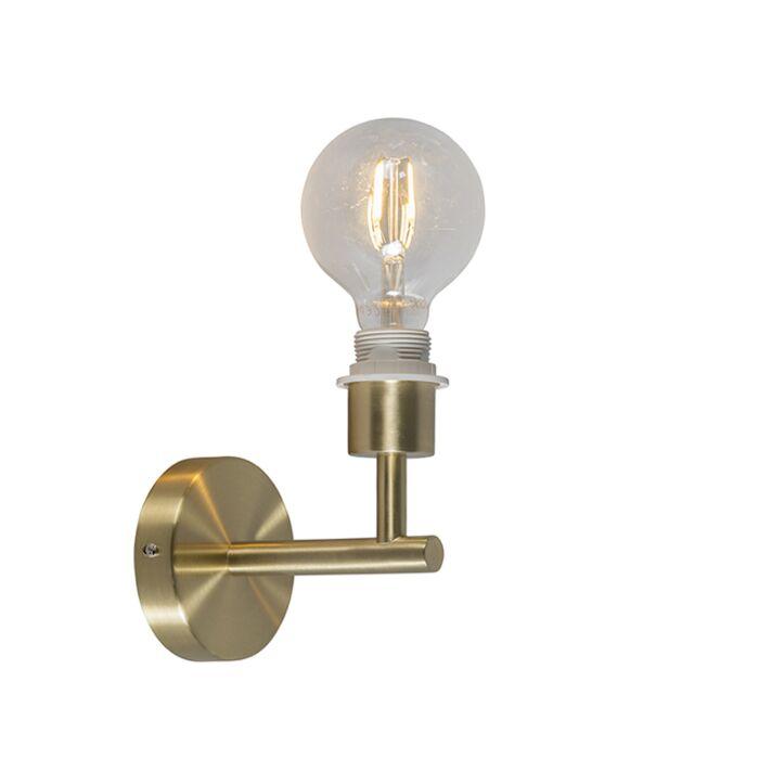 Wandlamp-Combi-1-goud-zonder-kap