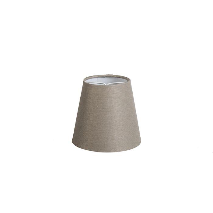 Linnen-klemkap-taupe-12-cm-rond