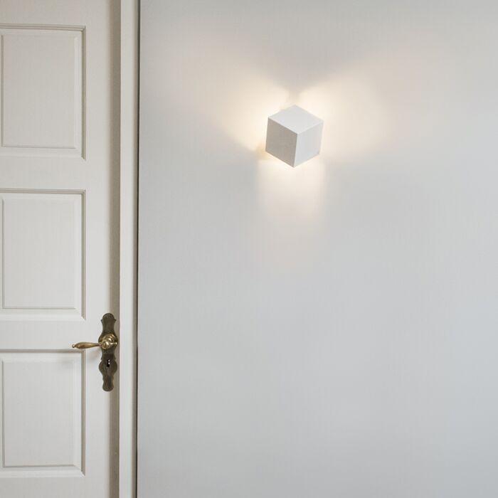 Moderne-wandlamp-wit---Cube