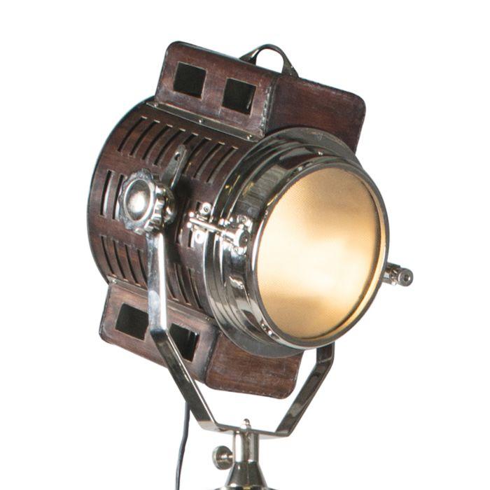 Spot-vloerlamp-Camera-leer-met-chroom