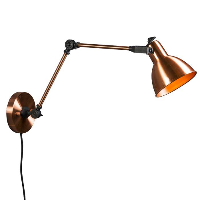 Wandlamp-Dazzle-lang-koper