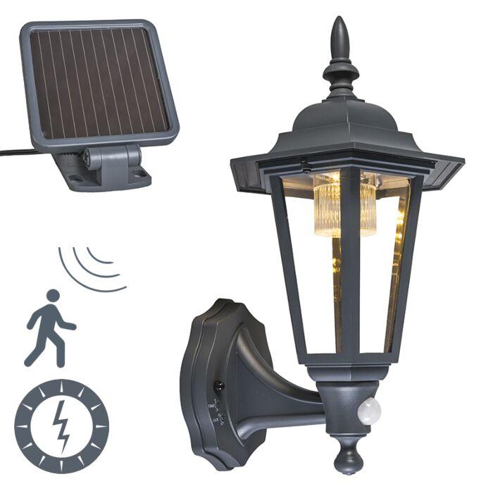 Buiten-wandlantaarn-antraciet-incl.-LED-en-solar---New-York