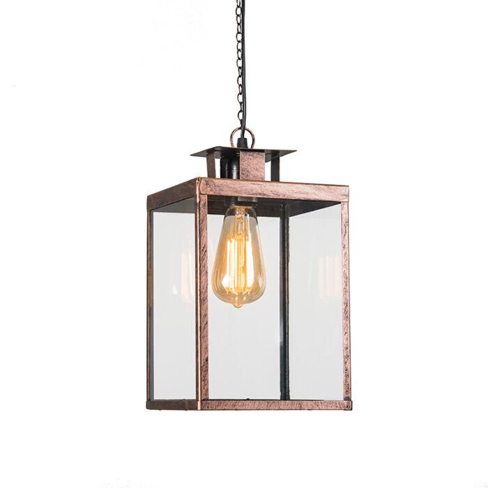 Hanglamp-Lantern-roestbruin