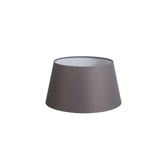 Kap-32cm-rond-DS-E27-linnen-bruingrijs