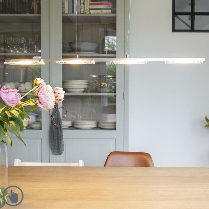 Hanglamp-staal-met-kunststof-incl.-LED-met-dimmer---Vitro