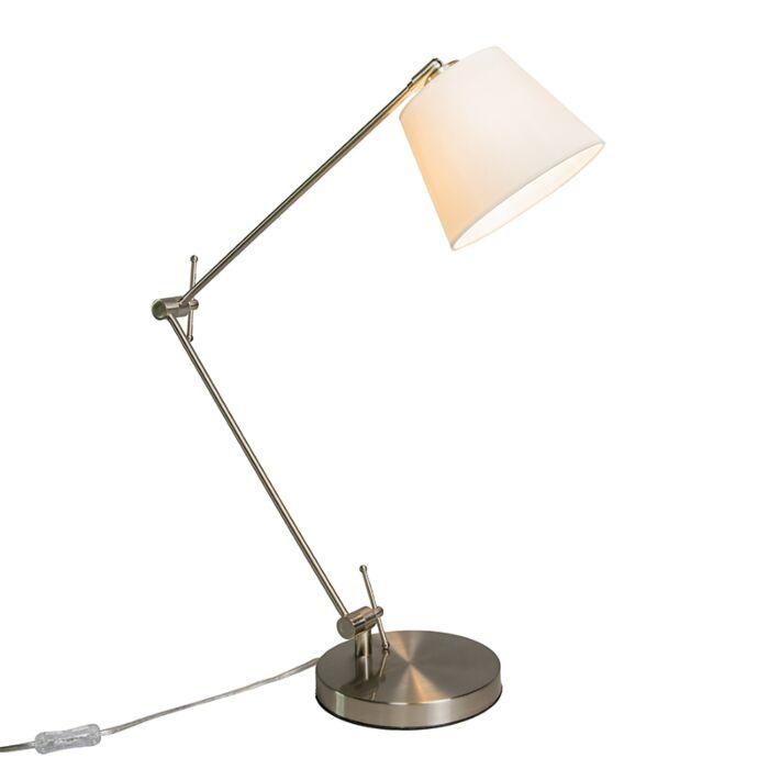Tafellamp-Editor-met-kap-creme-wit