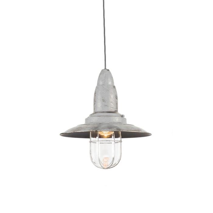 Vintage-hanglamp-oud-wit-met-glas---Pescador