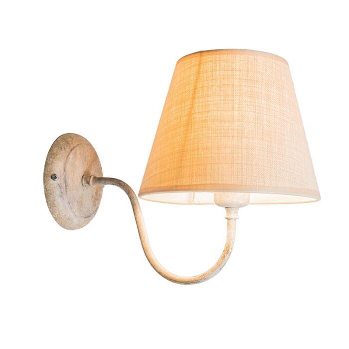 Wandlamp-Silea-UP-met-kap-taupe