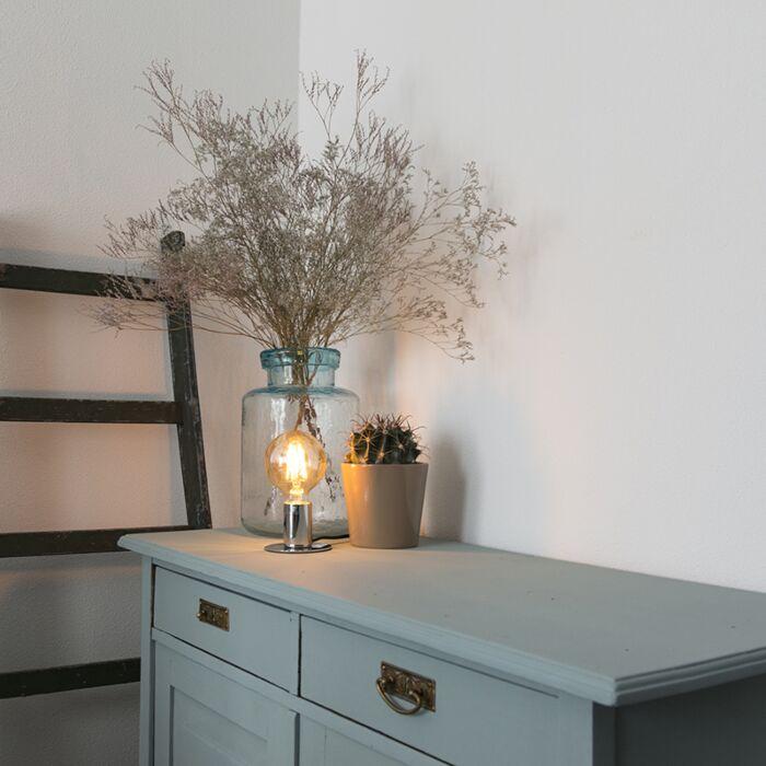 Moderne-tafellamp-chroom---Facil