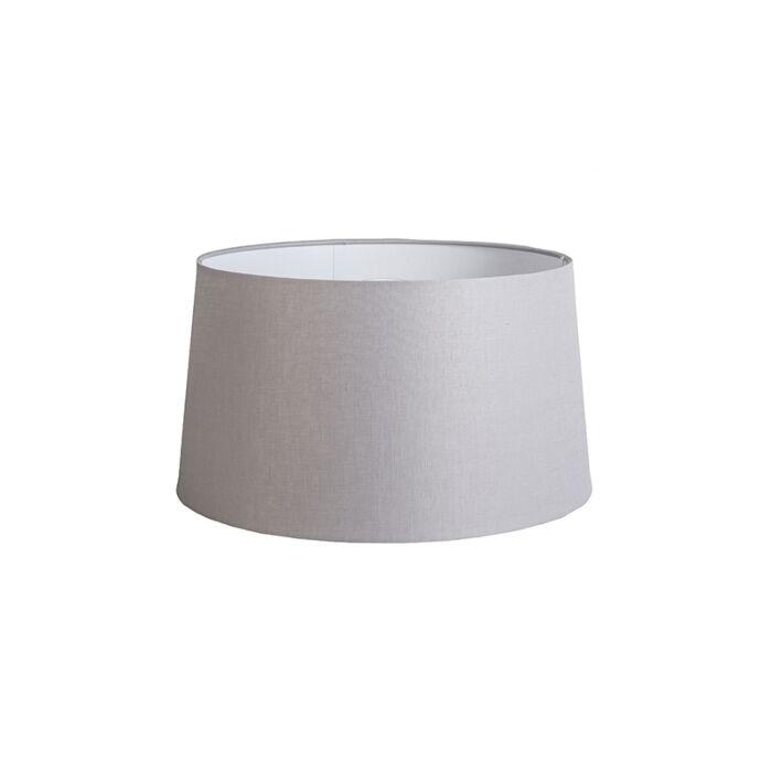Kap-45cm-rond-DS-E27-linnen-lichtgrijs