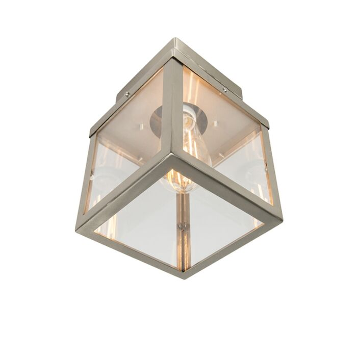 Moderne-buitenplafondlamp-staal-1-lichts---Rotterdam