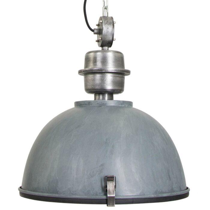 Industriële-hanglamp-beton-grijs-met-staal---Gospodin