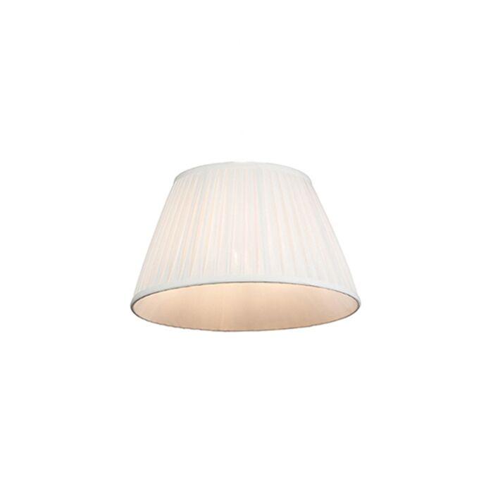 Plisse-lampenkap-wit-35/20-cm