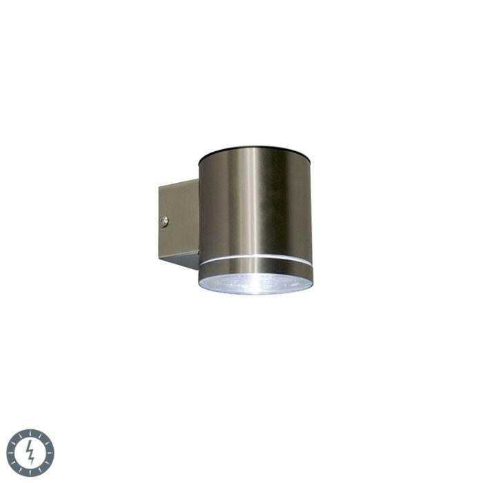 Buitenwandlamp-staal-incl.-LED-IP44-solar---Eta