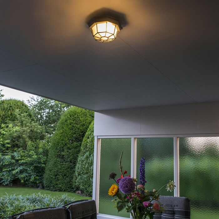 Landelijke-plafondlamp-donkergrijs-IP44---Bri-S