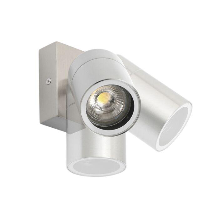 Buitenwandlamp-staal-IP44-draai--en-kantelbaar---Solo