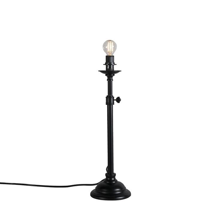 Klassieke-tafellamp-zwart-verstelbaar-zonder-kap---Accia